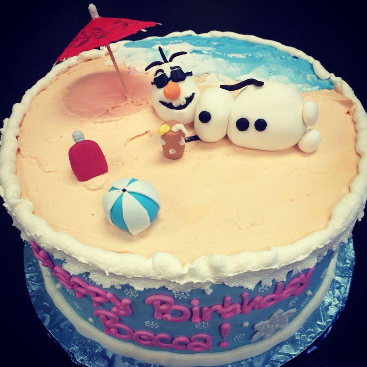 Frozen Olaf Cake Fun Design Made By Us Yum Bunnies