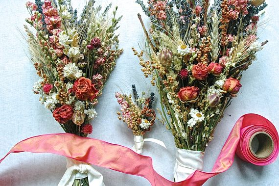 of Dried Lavender Coral Larkspur and Roses and by paulajeansgarden, $89.00