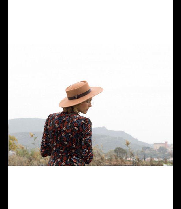 Moda de épocas pasadas - Sombrero El Poet Camel - hecho a mano por CATALINA-R en DaWanda