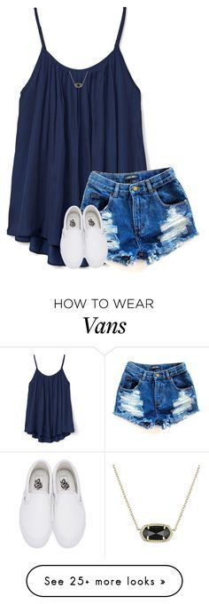 """you're a gem"" by hailstails on Polyvore featuring Gap, Vans and Kendra Scott"