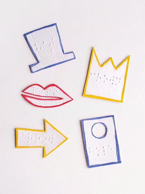 Braille shape cards
