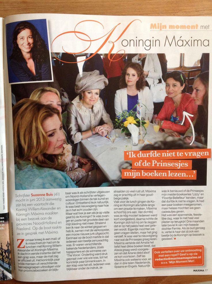 Suzanne Buis luncht met Koningin Maxima, Iris Kroes, Annemarie Postma en meer inspirerende vrouwen, tijdens de provincietour van het nieuwe koningspaar in 2013. In april 2015 stond dit mooie artikel in de eerste aflevering van de glossy Maxima.