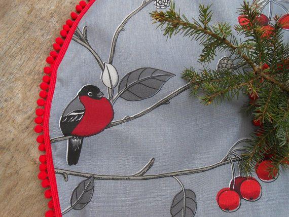 Christmas Decor Nordic Christmas Swedish Fabric by ViViCreative