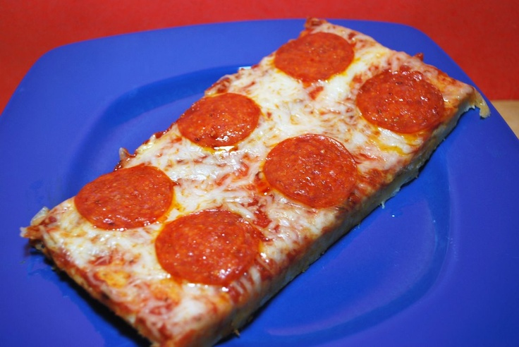 School Cafeteria Pizza. OMGosh, there's a RECIPE for this?! I just thought it came from Heaven.