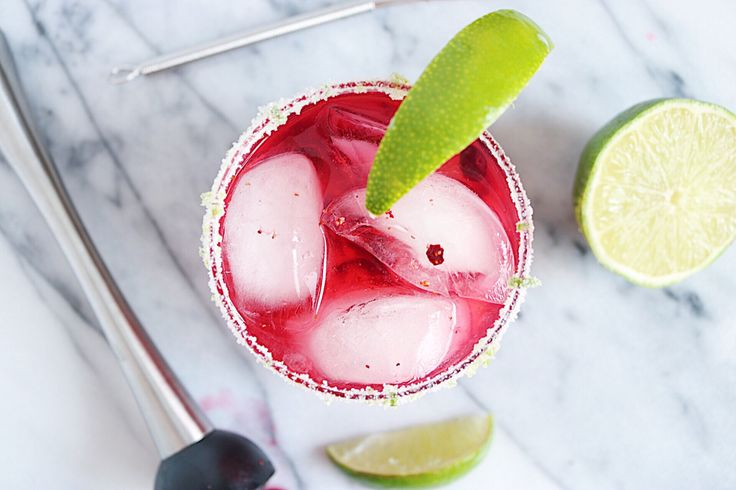 Huckleberry Margarita inspired by all things summer and the beautiful Shore Lodge in McCall, ID | CB EATS