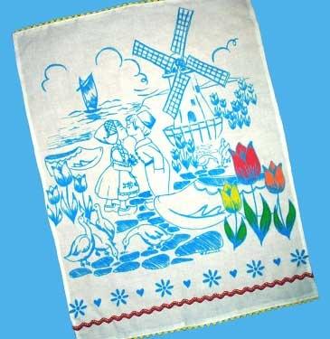 dutch tea towel    #dutch #teatowel #dutchteatowel #towel #kitchentowel #kitchen #windmill #holland #tulips #ducks #clog
