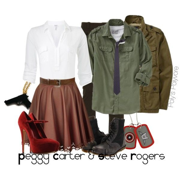 Peggy Carter & Steve Rogers, created by polyspolyvore on Polyvore