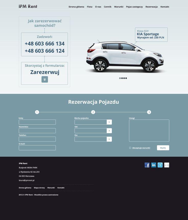 Projekt strony dla firmy IPM Rent. Koncepcja.