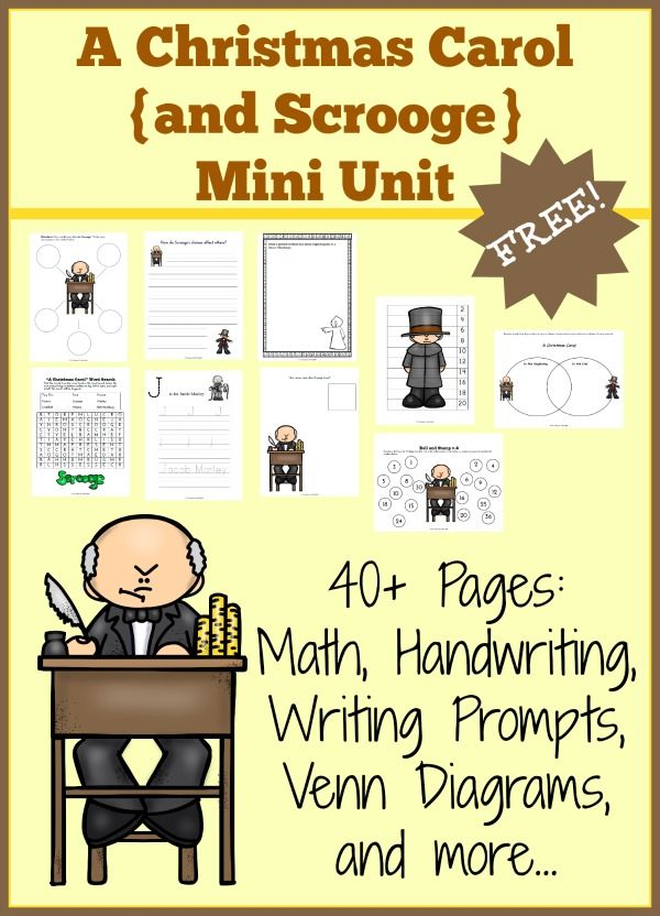 A Christmas Carol {Scrooge} Mini Unit Study with FREE 40-page printable for grades K-4| thissweetlifeofmine.com