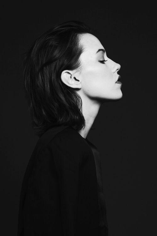 Portrait - black background