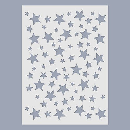 Stars Stencil by CoolGlow on Etsy