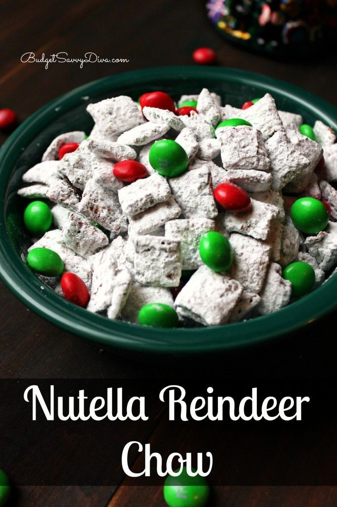 Are you a Nutella fan? If so this treat is for you :) Nutella Reindeer Chow Recipe