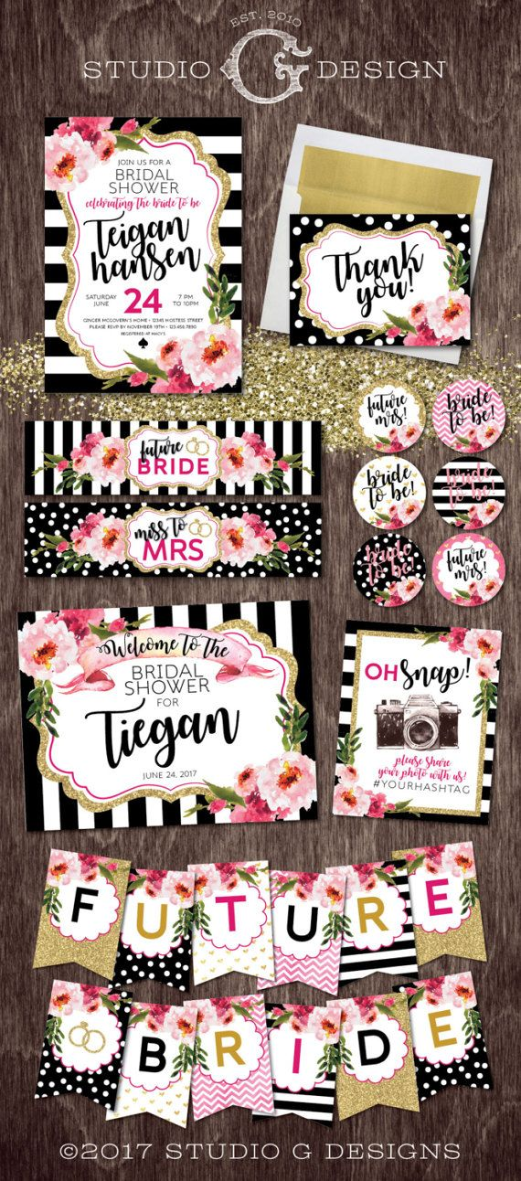 Kate Style BRIDAL Shower Invitation PARTY by studioGdesigns
