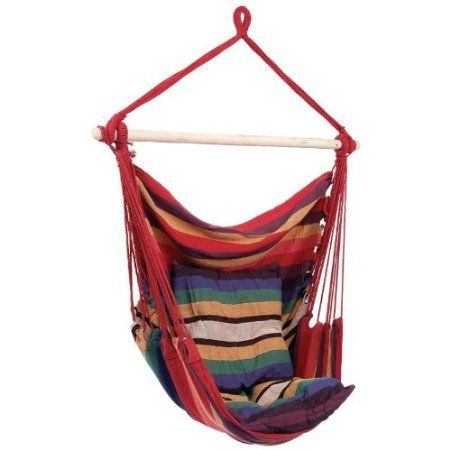Hanging Rope Chair - Style SPSWING2.  Amazon.com $29.99.  Great to hang from sturdy tree limbs.