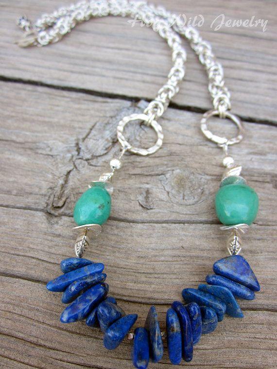 Lapis Turquoise Necklace, hogwildjewelry