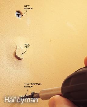 How to Fix Popped Drywall Nails and Screws | The Family Handyman