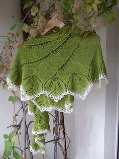Free Knitting Pattern: Begonia Swirl by Carfield Ma - so elegant...