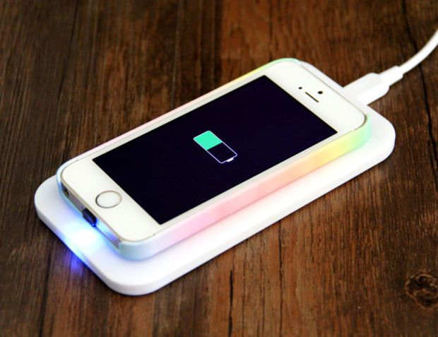 iPhone 6/5S/5/5C Qi Wireless Charger Charging Pad with Adapter Kit+Wireless Charger Receiver - iPhone