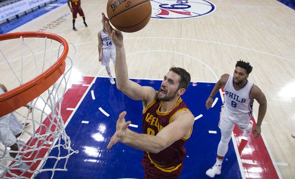 Cavs PF Kevin Love (Knee) To Miss Tuesday's Game At Milwaukee, Questionable For Wednesday   Image taken at the game to 76ers, which Kevin Love sustained an injury on the Corner of his Right Eye, in Philadelphia on 2016-11-27   2016-12-19