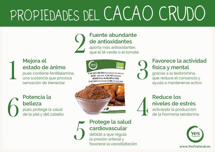 Propiedades y beneficios del Cacao Crudo Puro #cacao #cacaocrudo #cacaopuro #superalimento