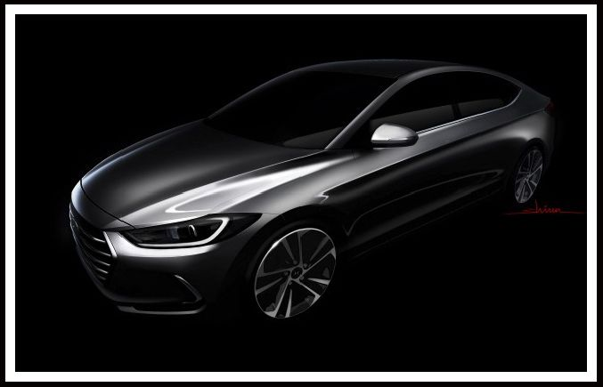 Sneak Peak At The New 2017 Hyundai Elantra  #Hyundai #2017Elantra #Teaser #Concept #Dilawri