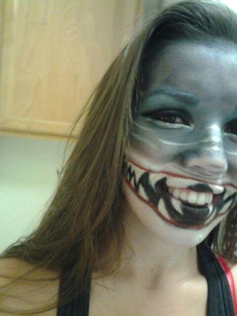 Shark makeup!
