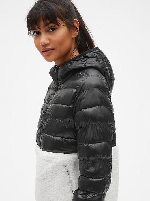 75ede06177e7 Gap Womens Gapfit Sherpa Puffer Jacket True Black | Products ...