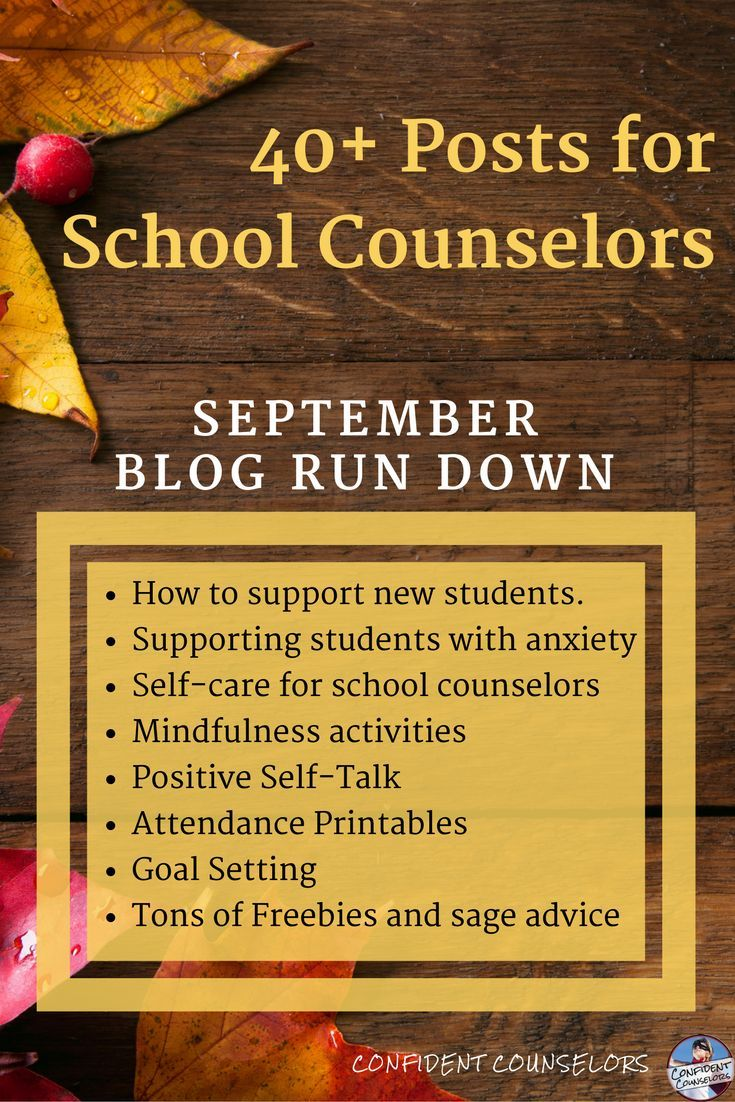 Round up of over 40 blog posts on support students with anxiety, self-care, mindfulness, positive self talk, new student groups, and more.