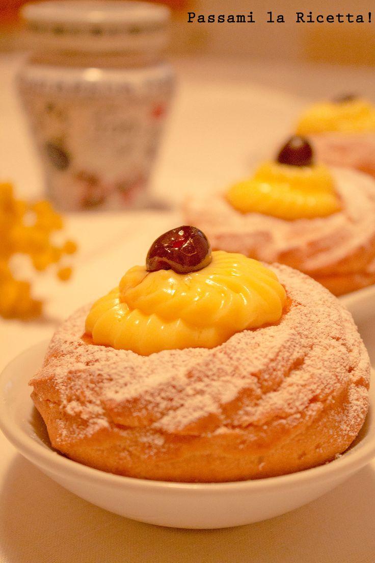 Le Zeppole di San Giuseppe al Forno sono un classico dolce della Festa del Papà. Farcite con Crema Pasticciera e Amarene sciroppate, sono Irresistibili!