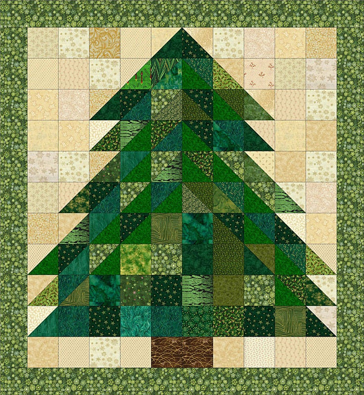 Christmas Tree Rag Quilt Free Tutorial