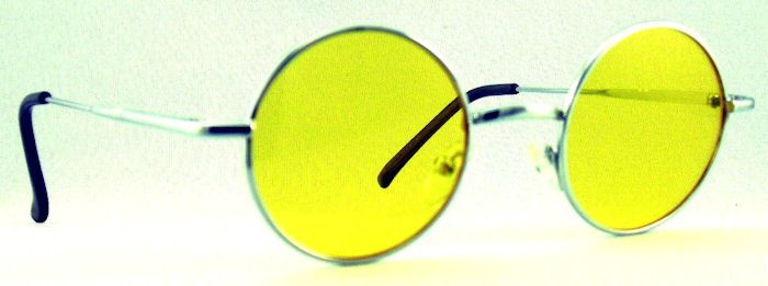 Small Round Metal Spectacles Yellow