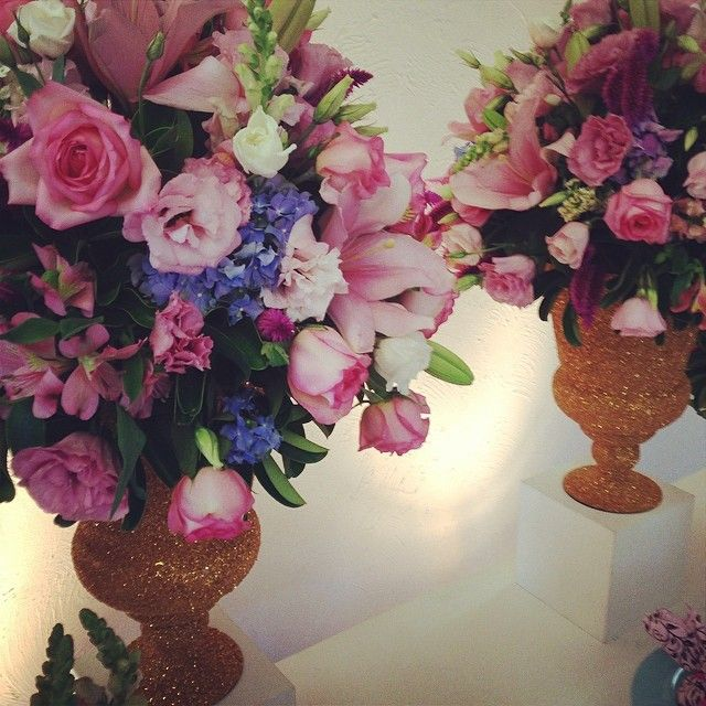 Um espetáculo de arranjo floral
