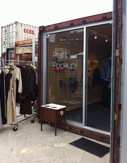 Retail shop out of a shipping container