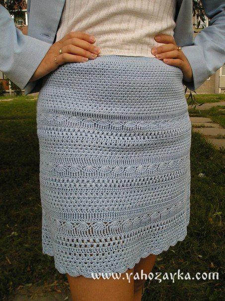 Юбка для лета крючком схема. Как вязать юбку крючком описание   Я Хозяйка