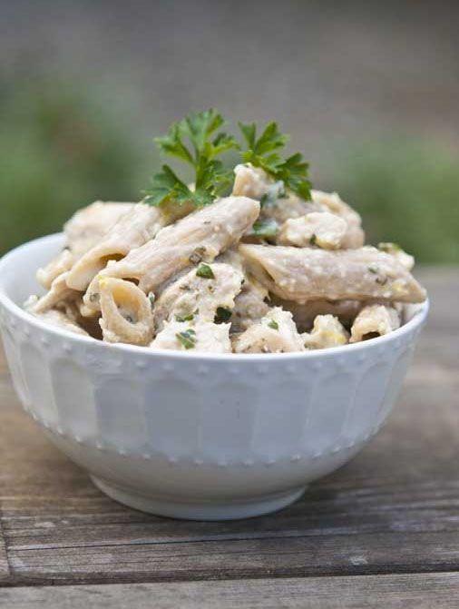 Chicken Penne In Lemon Basil Sauce #Recipe #Food #Dinner