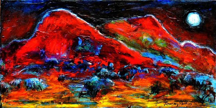 This is a painting of the Pilbara region of Western Australia in oil on canvas 30 by 61 cms.  It will be in my solo exhibition at Element's Art Gallery in Dalkeith WA.  http://www.jeremyholton.com http://thailand-painting-holidays.com Visit our painting and photography artist retreat guesthouse in NE Thailand by Jeremy Holton https://plus.google.com/u/0/104359568476968412848?rel=author #painting #art #jeremyholton