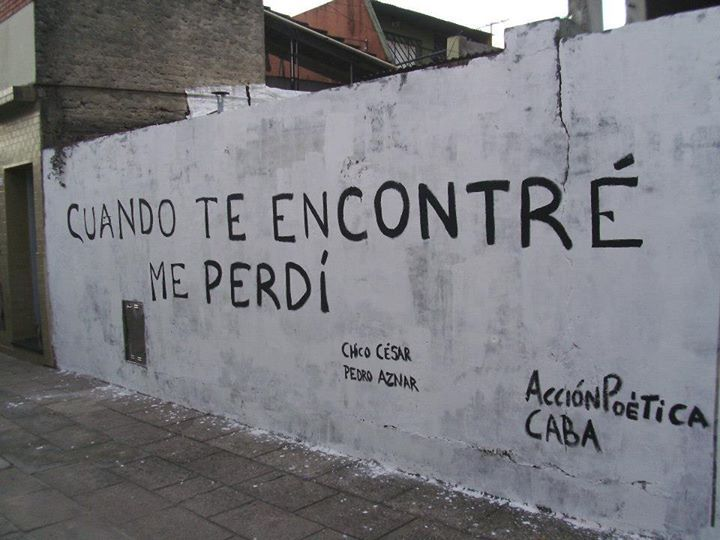 carteles # paredes # acción poética # español# www.facebook.com/...