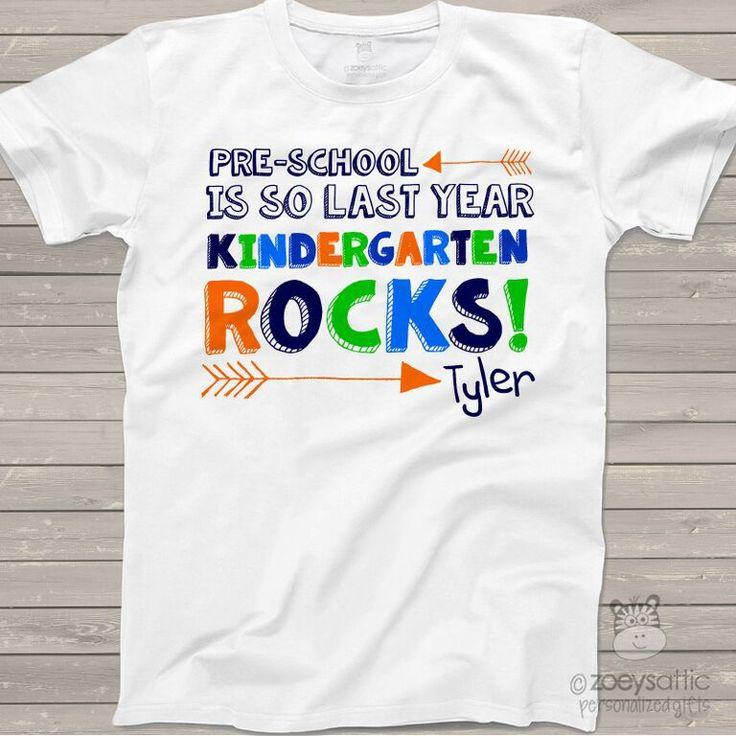 personalized kids shirts, colorful boys back to school shirt, funny kindergarten shirt
