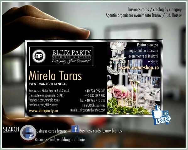 Business cards wedding and more, business cards brasov, luxury brand ROMANIA