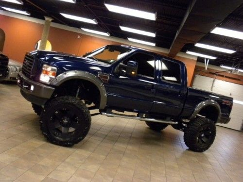 Nice Blue Ford Lifted Truck