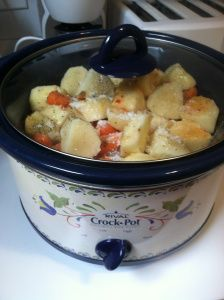 Italian chicken, potato, and carrot crock pot dinner. my grandma used to make this and now i'll carry on the tradition!
