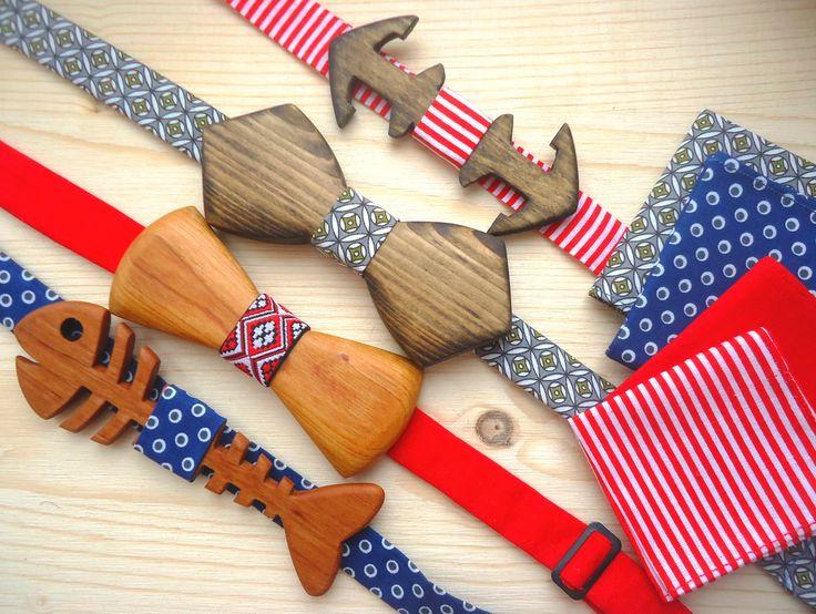wooden bow-tie деревянный галстук-бабочка