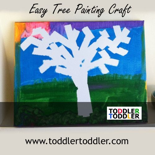 toddlers preschoolers activities wwwtoddlertoddlercom easy tree painting - Toddler Painting Games