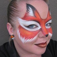 Image result for facepaint fox