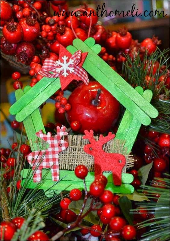 How to make a Wooden Christmas Ornament by www.anthomeli.com. Cook Craft Create (December 2014) Online Magazine on Issue
