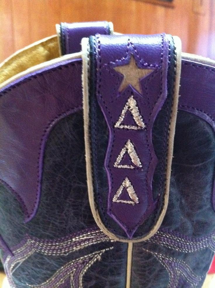 Tri Delta cowboy boots