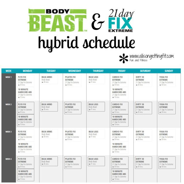Body Beast and 21 Day Fix Extreme Hybrid | Allison Getting Fit