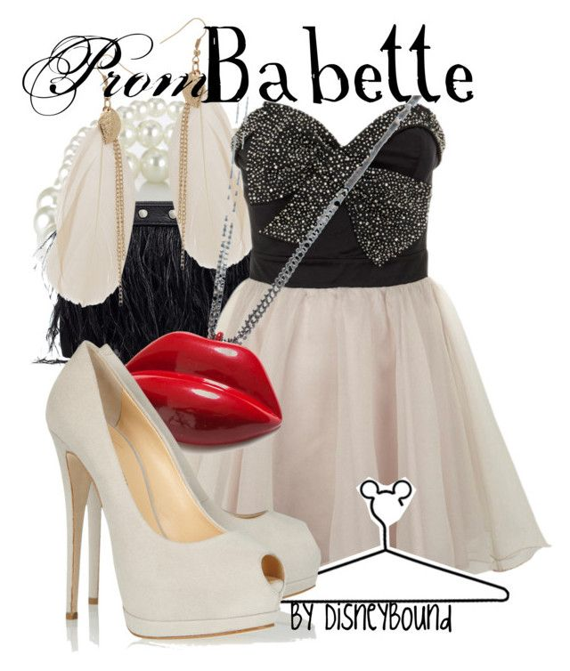 Babette by leslieakay on Polyvore featuring polyvore, fashion, style, Lipsy, Giuseppe Zanotti, VILA, Wet Seal, Zara, Accessorize, Disney, clothing and disney