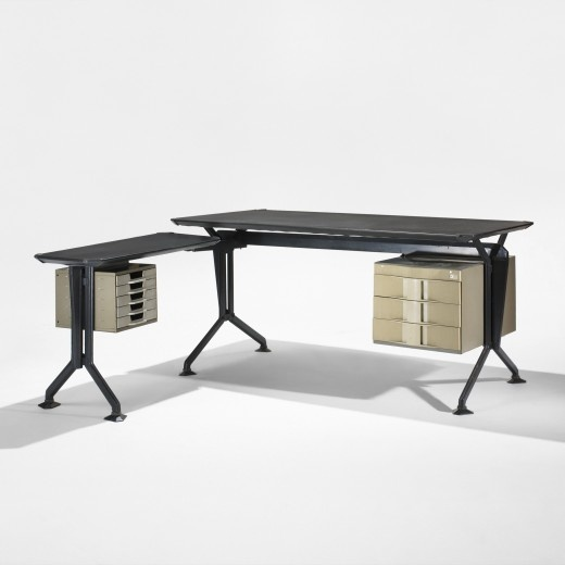 Studio BBPR, Arco Desk with Return for Olivetti, 1963.