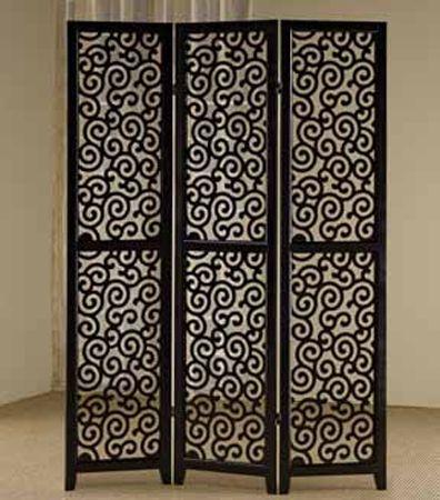 furniture u0026 design room divider screens 3 panel black finish wood scrolled design shoji screen room divider with elegant design